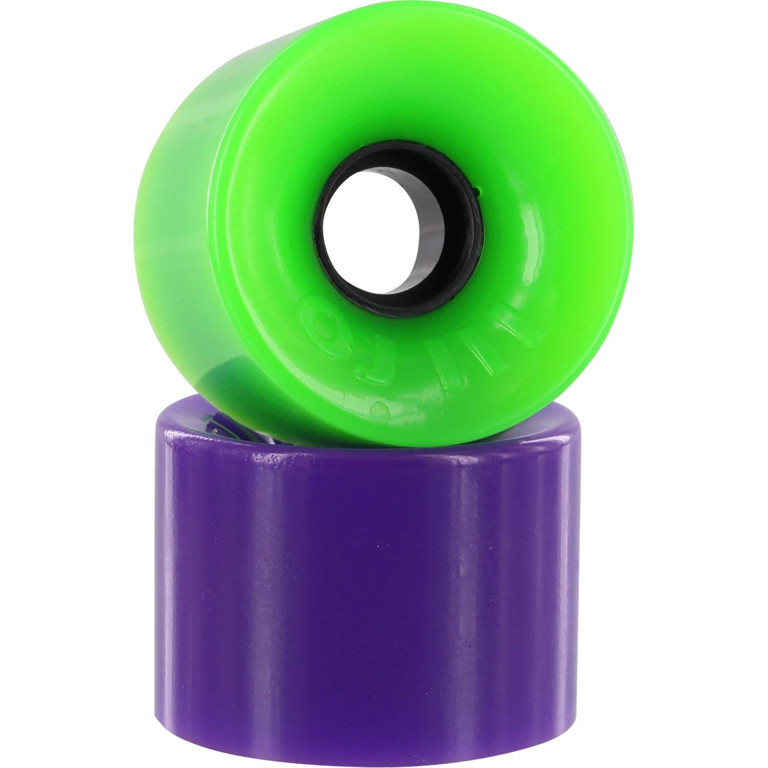 Oj Wheels Hot Juice Green/Purple Combo Longboard Skateboard Wheels - 60mm 78a (Set of 4)