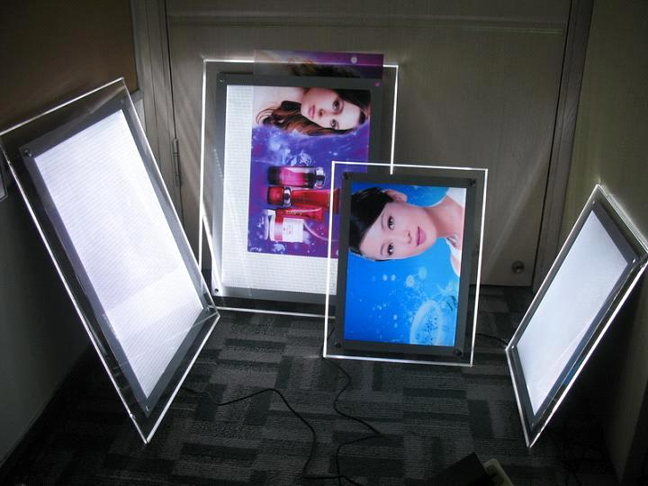 Outdoor sign slim led light boxes in high quality