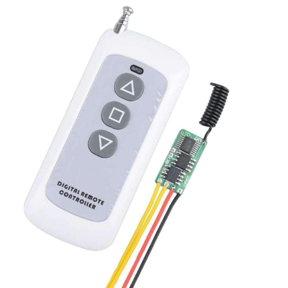 12V Remote Control Switch for Motor, 433MHZ Wireless Switch Motor Controller Power Saving 6MA, Motor Forwards Reverse Stop DC3V 3.7V 4.2V 4.5V 5V 6V 7.4V 9V 12V