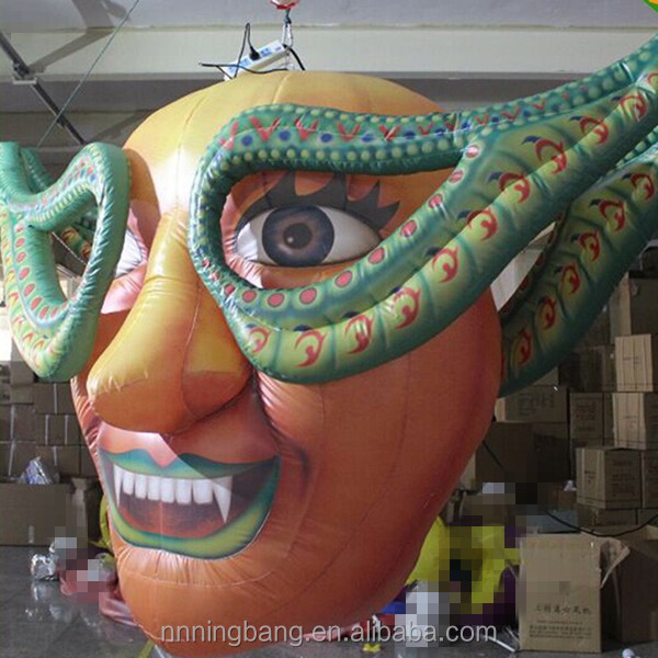 Giant hanging inflatable demon for nightclub decoration