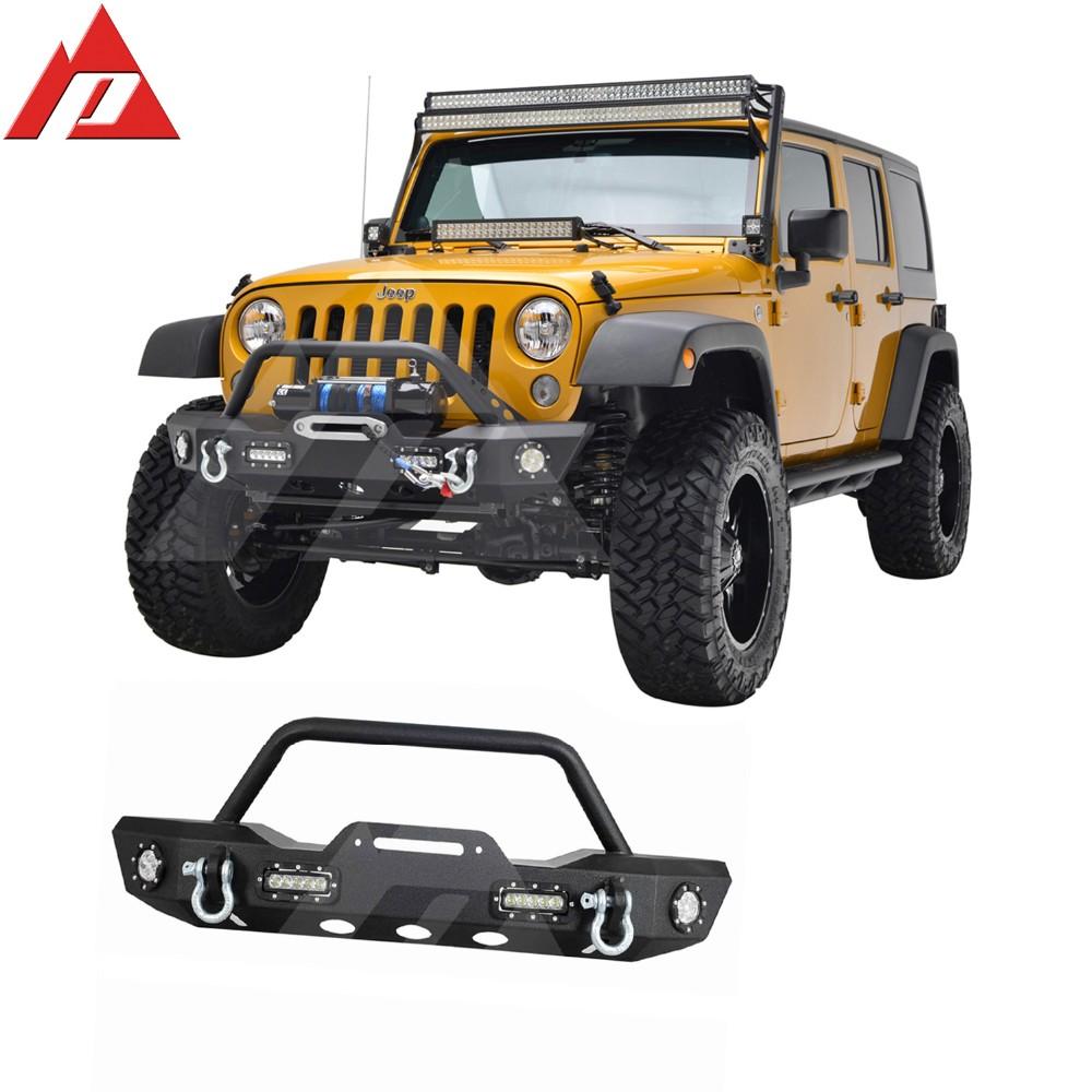 07 15 Jeep Wrangler JK Offroad Pára Choques Dianteiro Com Luzes LED