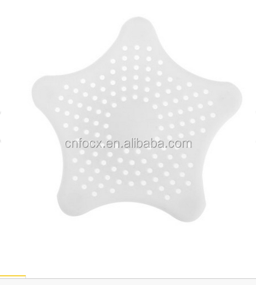 Star Shape Hair Catcher Rubber Bath Sink Strainer Shower Drain Cover / Floor Drain Sewer Floor Filter Trap