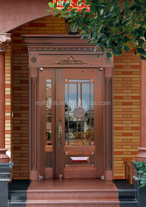 Glass panel style main entry copper <strong>door</strong>