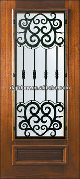 Glass Inserts Single Safety Doors Design In Metal Dj