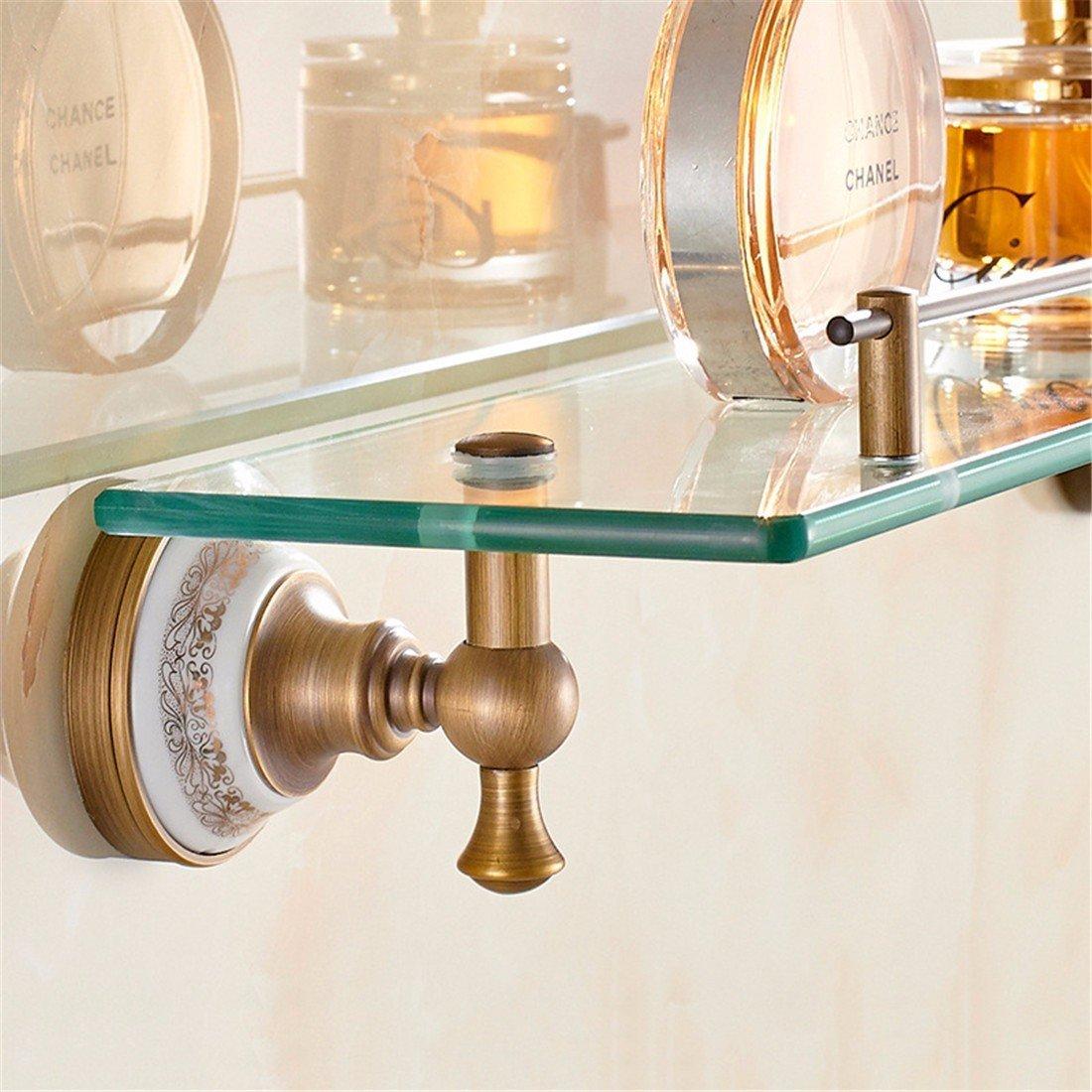 LAONA European style all copper antique drawing ceramic base, bathroom pendant set, toilet paper rack, towel rod,Rack 1