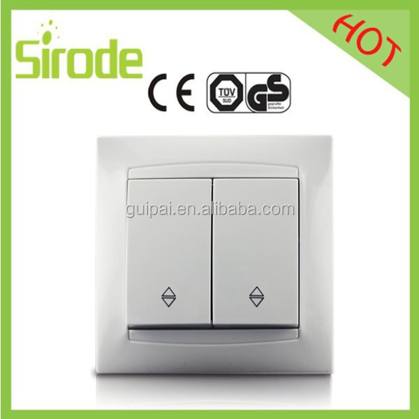 Sirode Ce Certificated Wood Color 2 Gang 2 Way Switch