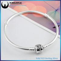 Most popular 925 Sterling Silver Bangle Bracelets Wholesale charm Bracelet with clasp