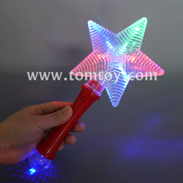 Cheap plastic Light Up LED Star Wand with Prism Ball