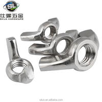 Professional high quality sus304 eye bolt with wing nut to fit bolts and screws