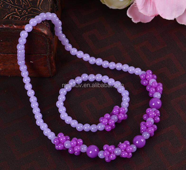 67fd8ba2ee53 Historieta del color del grano del collar para la niña niños encantadores  del grano del collar