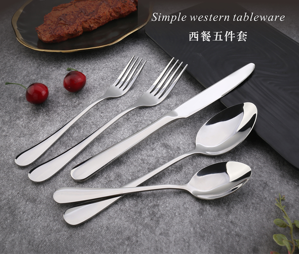 Best Selling Hotel Dinner Set Pvd Coating Stainless Steel Cheap Cutlery Gold Flatware