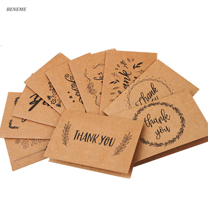 Custom Kraft Wholesale Printing Small Business Thank you Wedding Card