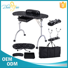 Flower Printing Folding Beauty Manicure Chair Nail Bar Salon Furniture