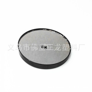 fashion portable professional 8.8CM cosmetic mirror wholesale amplification plastic 10X magnifying glass sucker cosmetic mirror