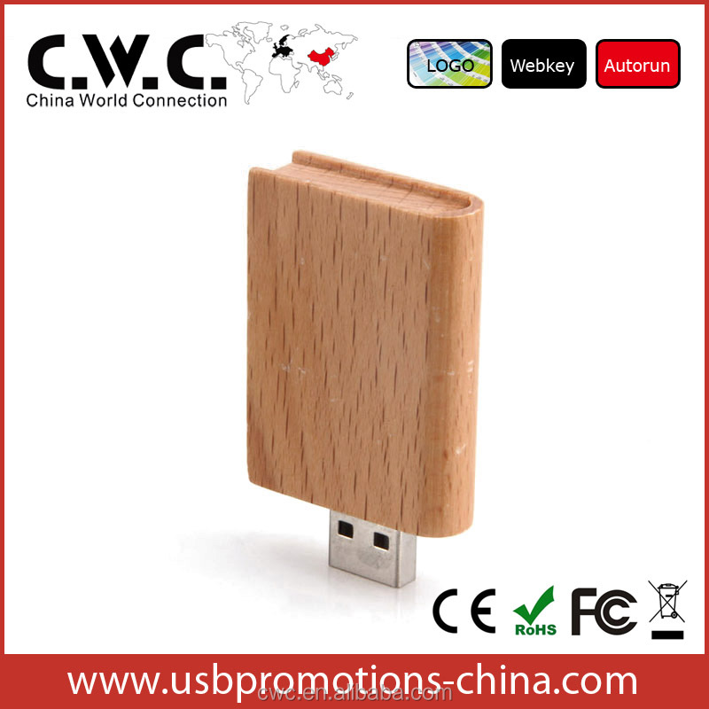 china factory price wooden usb, cutom gift pen drive 8gb