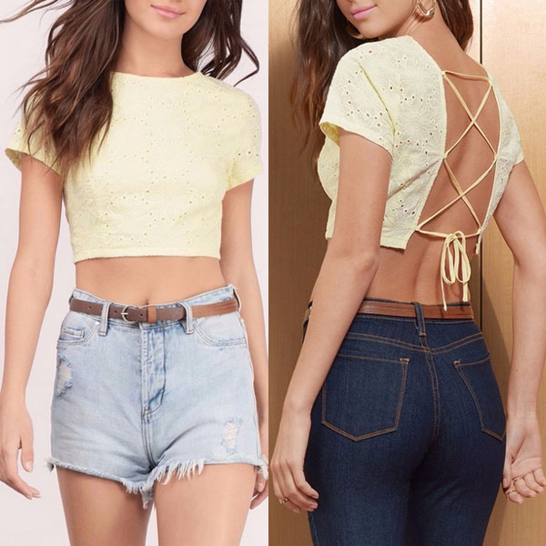 Custom blank crop tops wholesale cheap lace crop tops manufacturers
