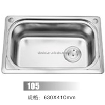 Good Quality Factory Malaysia Custom Size Single Bowl Kitchen Sink