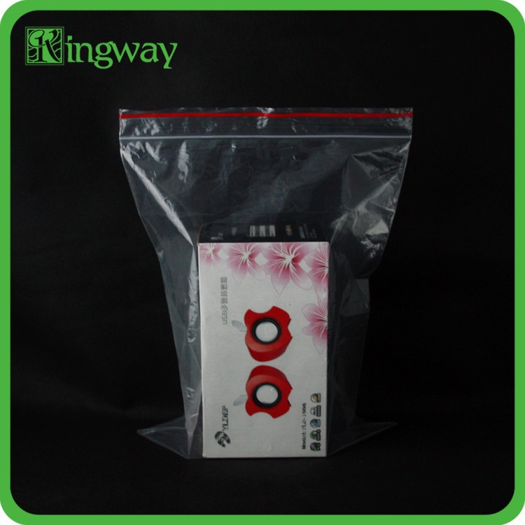customized clear PE zip bag with high quality for packaging used plastic bag making machine