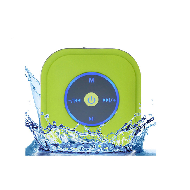 IPX4 waterproof shower speaker with FM radio suction cup with cheap price