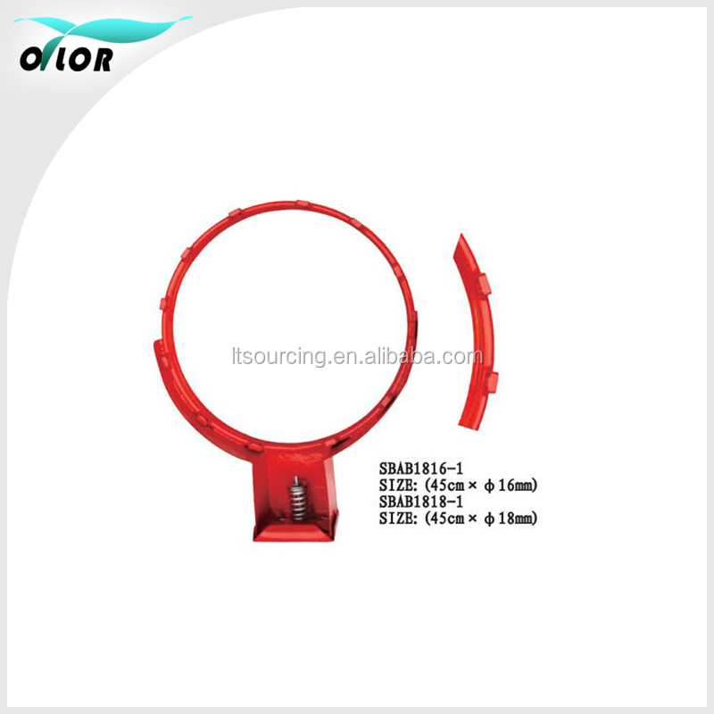 "18"" standard size steel basketball hoops for match and training"