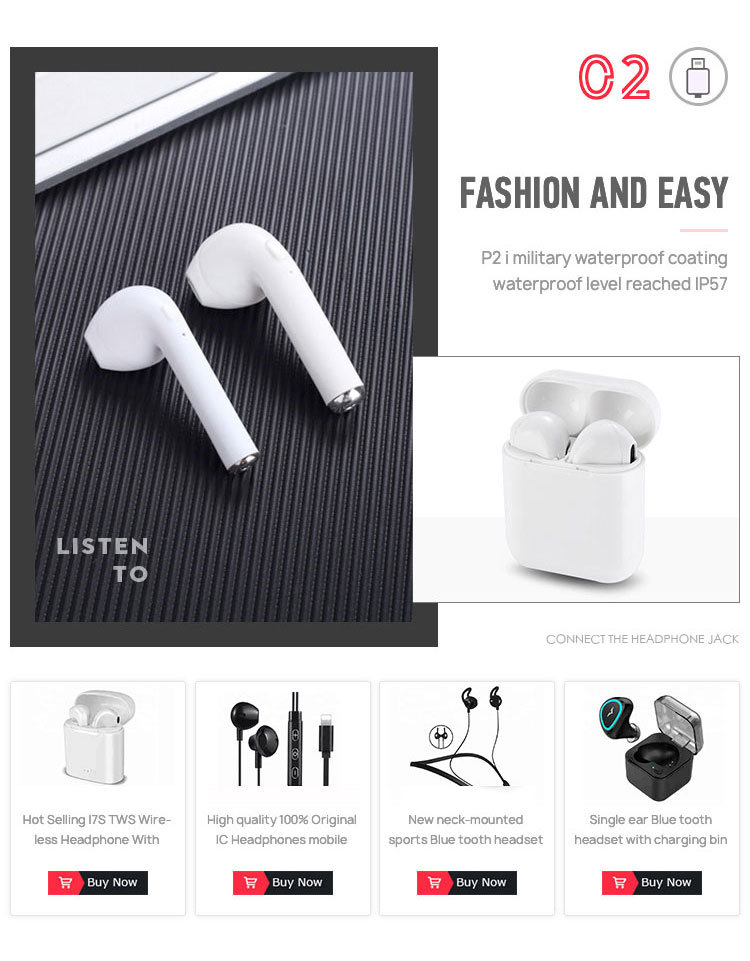 I10 Bluetooth headset TWS sports wireless bin Bluetooth power touch stereo with charging bin wireless charger for iphone X