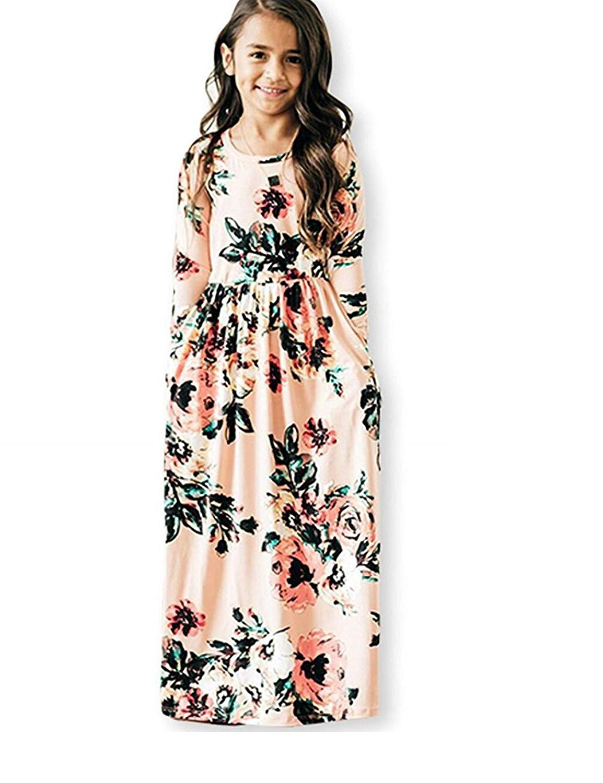 ae0ebc06de Get Quotations · JYH Girls Maxi Dress