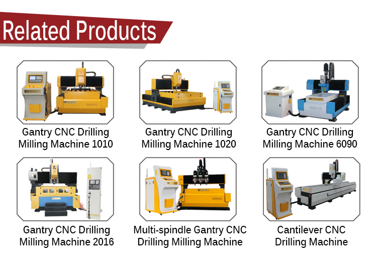 cnc metal router drilling machine for steel plates