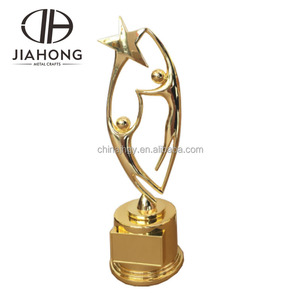 customized decorative sport plastic world cup trophy with stand