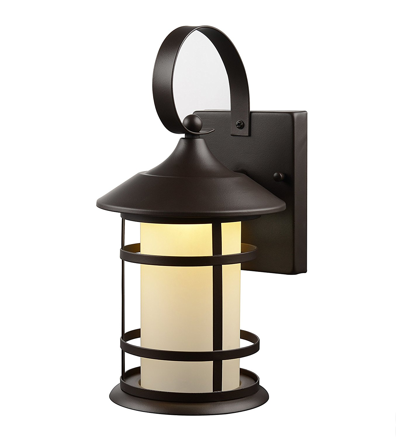 Hardware House LLC 21-2014 # 1-Light Lantern with Frosted Glass Lantern Wall Fixture with 1-Light Comes with Frosted Glass Uses (1) 10W Led Light Bulb-Included