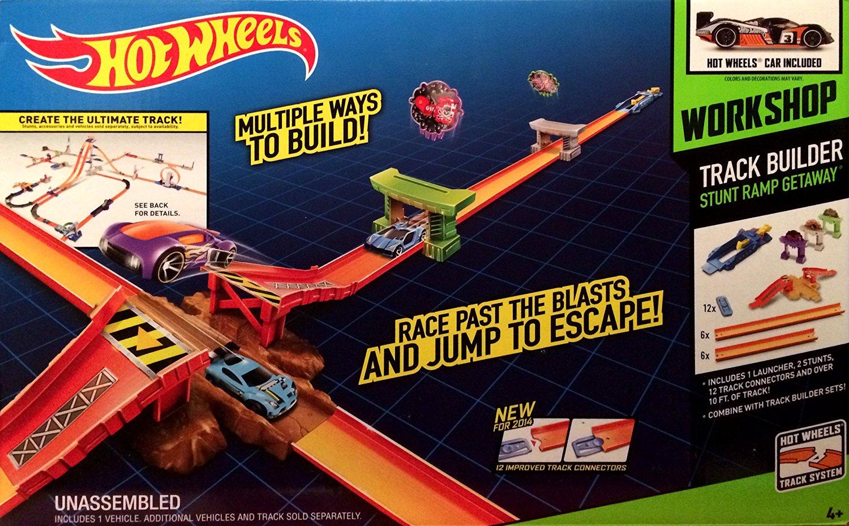 Hot Wheels Workshop Track Builder Stunt Ramp Getaway
