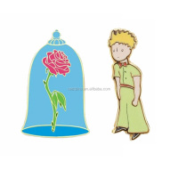 Custom colorful hard enamel metal diy lapel pins little prince high quality badges