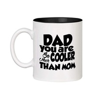 Best Selling Dad Gift Mug for Father Day Gift Black Dad Ceramic Inner Color Cup Coffee Mug