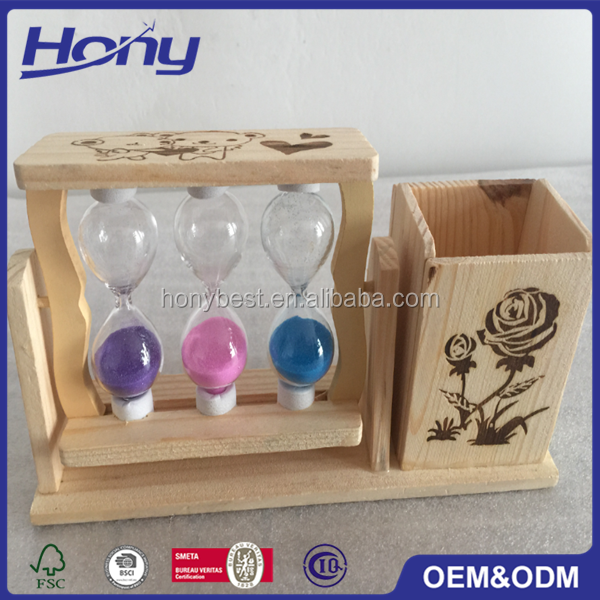 Lovely Unfinished Pine Wood Packaging Stationery Storage Gift Box With Custom Logo