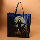 Custom full color lamination coated non woven printed bag for halloween