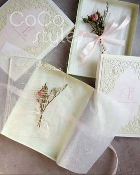 Cocostyles Bespoke Vintage Silk Printing Clear Acrylic Invitation Card With  Laser Cut Frame Box For Classical Wedding Party - Buy Vintage Silk