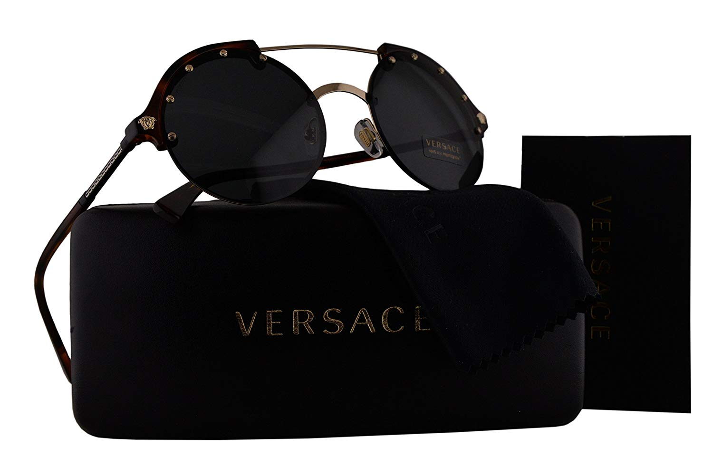 d17ad3a5cef Get Quotations · Versace VE4337 Sunglasses Havana w Gray Lens 26087 VE 4337