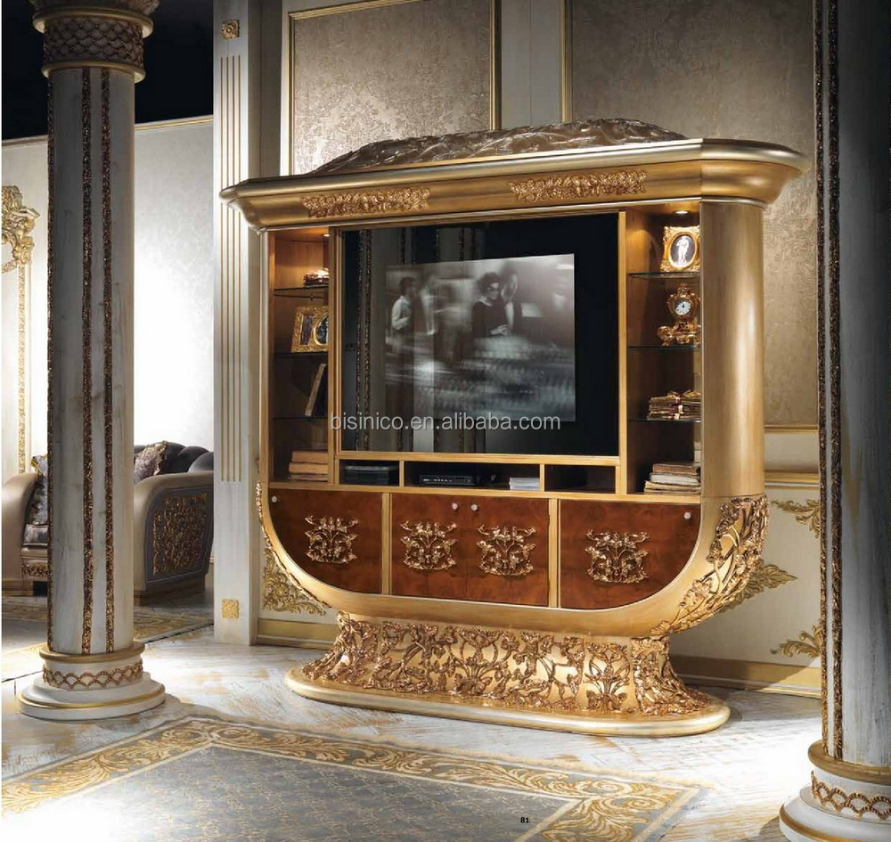 luxe style de design italien laiton et bois salle manger meubles palais baroque style. Black Bedroom Furniture Sets. Home Design Ideas