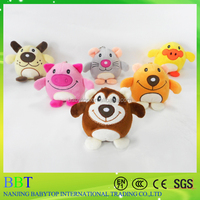 OEM and ODM mini stuffed animal baby musical plush teething toys for baby