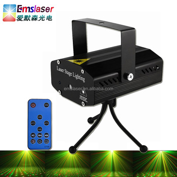 Mini rg dj laser light disco party lighting twinkling star with remote control