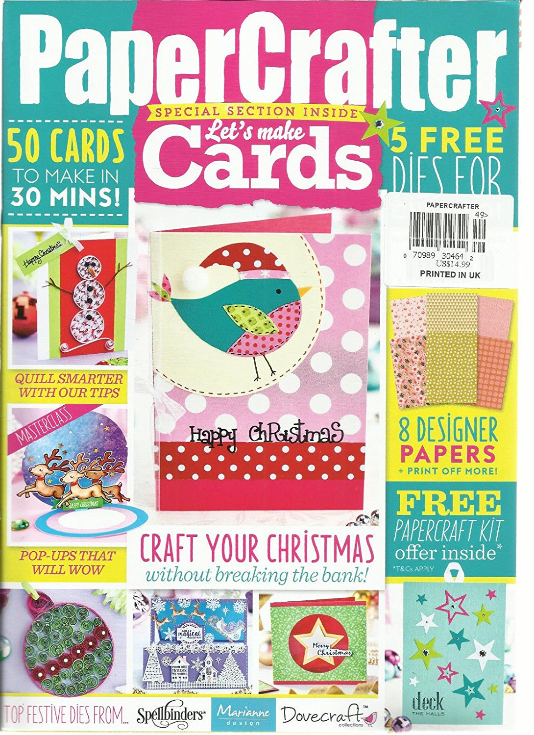 PAPER CRAFTER, LET'S MAKE CARDS, SPECIAL SECTION INSIDE ISSUE, 2016 ISSUE # 99