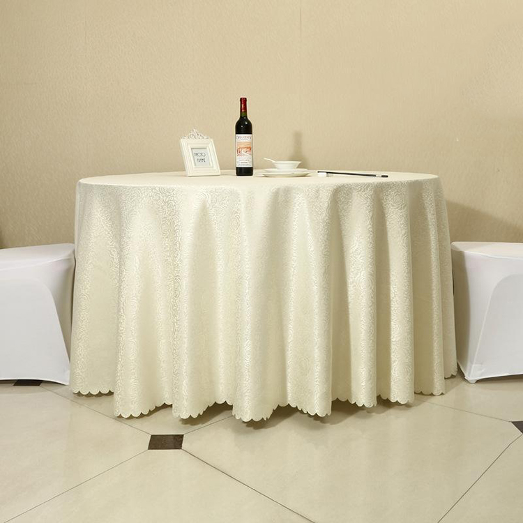wholesale fabric dining China elegant church Custom ruffled lace damask satin polyester or spandex table cloth cover