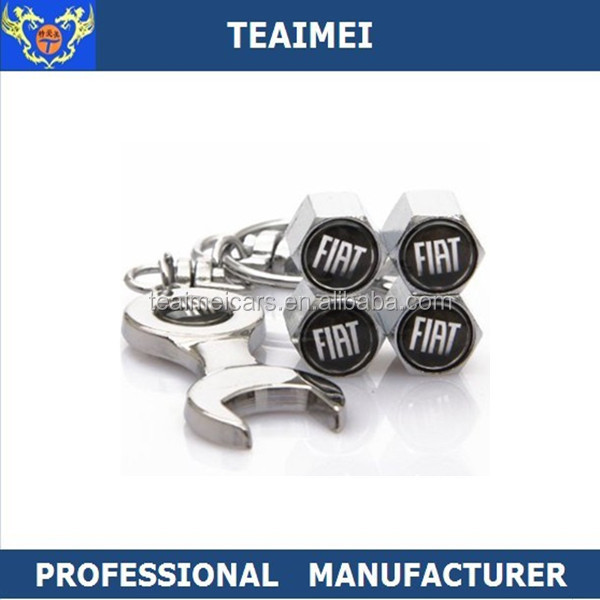 Car Logo Dust Cap Wheel Tire Valve Caps with Spanner