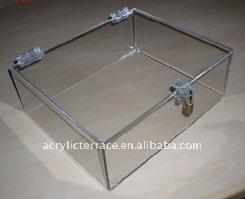 Clear Afsluitbare Teller Display Lade Case Box