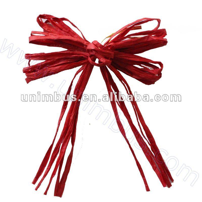 hand gebunden papier bast korb geschenk f r weihnachten schmetterling bogen raffia band 4. Black Bedroom Furniture Sets. Home Design Ideas
