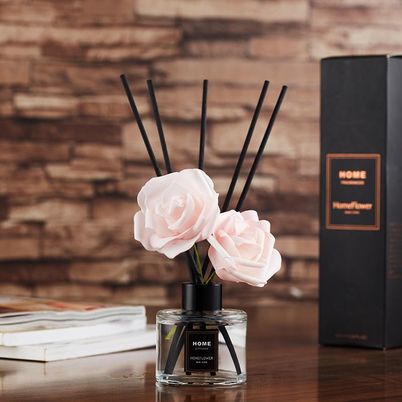 Wholesale Custom Glass Bottle Home Room Scent Fragrance Reed Diffuser Gift Set