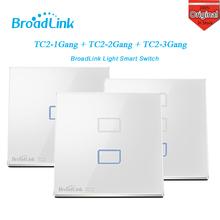 EU Standard Broadlink TC2 1/2/3 Gang Wireless Wifi Remote Control Wall Light Touch Screen Switch 433MHZ Smart Home auto System