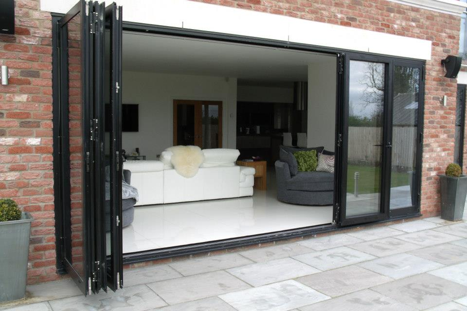 Large Aluminum Sliding Window With Four Panels