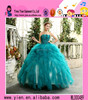 2016 latest design ladies sexy cheaper wedding dress high quality strapless Blue Wedding Dress 2016