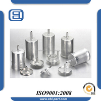 various types of metal electrolytic capacitor enclosure empty housing