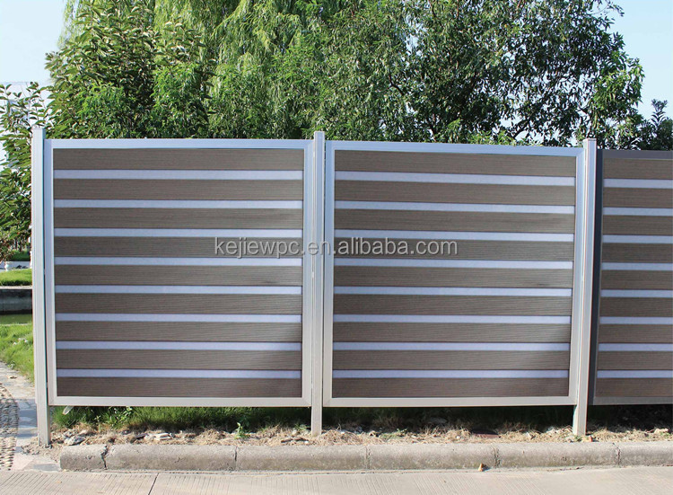 Composite fence panel wpc garden fence outdoor screen wood for Outdoor wood screen panels
